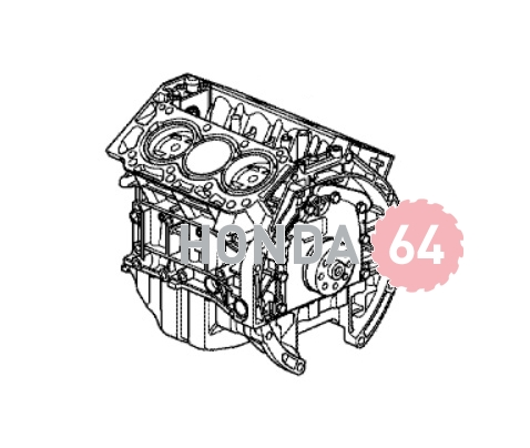 Двигатель Хонда (short block) Honda Accord-9, V6 2013 (10002-5G0-A01)