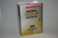 Масло моторное HONDA Ultra GOLD –SM 5W-40 Japan,4L (0822099974)