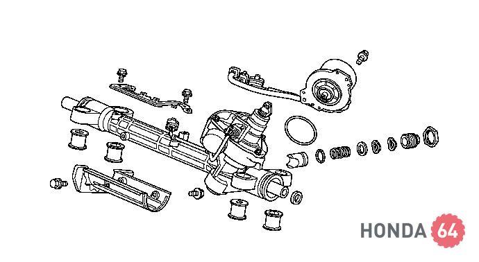 Ремонт рулевой рейки на хонда срв своими